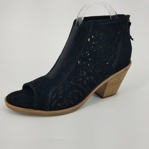 NEW Sofft Maris Laser Cut Peep Toe Ankle Bootie